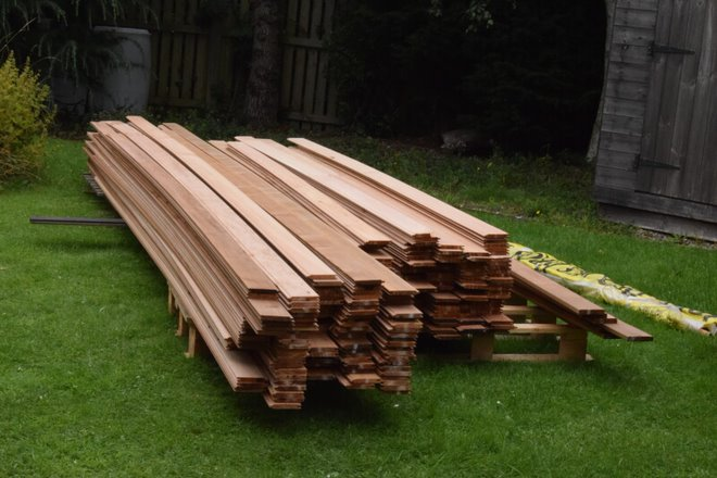 Cedar tongue and groove cladding boards in various lengths from Quay Timber.